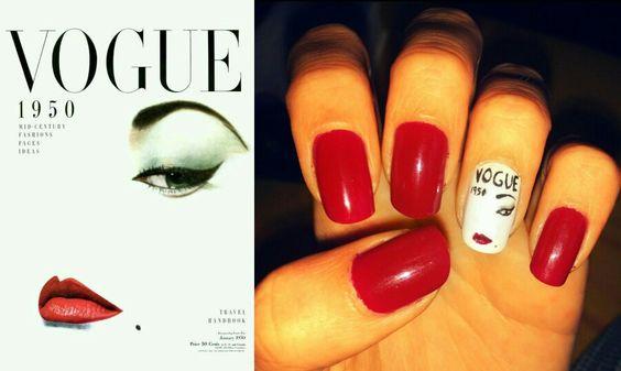 Vogue. 1950. {Nail art}