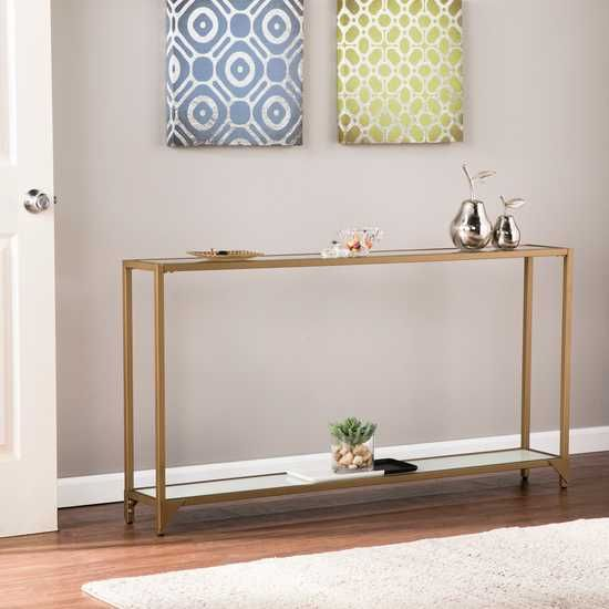 Belleterre Gold Console Table Rooms To Go Haley Jones In