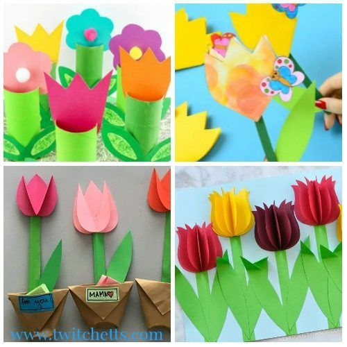 25 Easy Spring Tulips Crafts For Kids To Make This Spring Twitchetts Flower Crafts Tulips Art Spring Art Projects