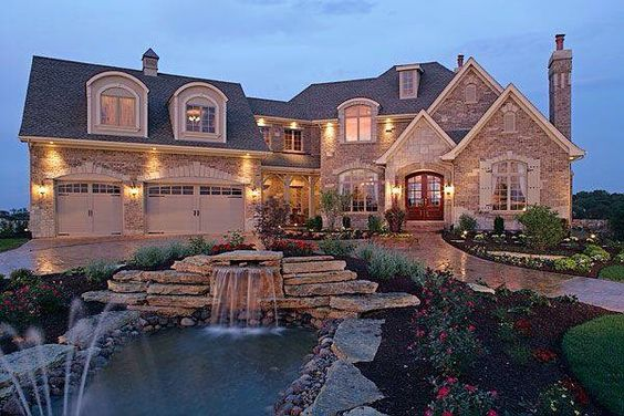 Stone homes big houses and home on pinterest for Big house images