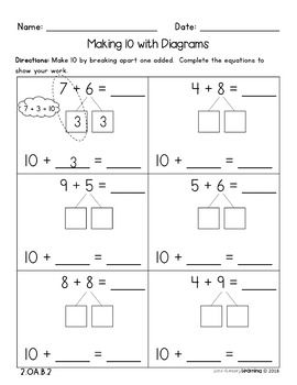 Simple And Easy To Use No Prep Math Worksheets For Grade 2 Students Practice Addition And Subtraction First Grade Math Worksheets Common Core Math Worksheets