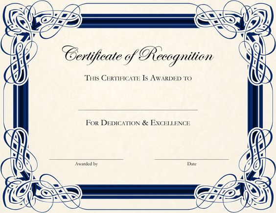 Best 25+ Certificate of recognition template ideas on Pinterest - completion certificate format