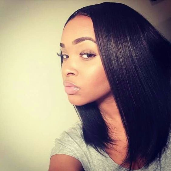 Bobs, Middle and Middle parts on Pinterest