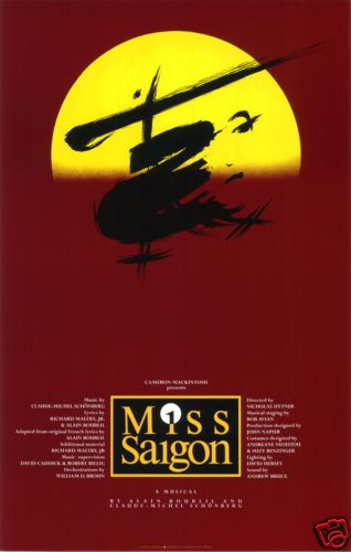 Miss Saigon Broadway Poster Broadway Posters Miss Saigon Musical Theatre Posters