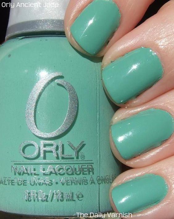 """Esmalte Orly """"Ancient Jade"""" R$28.00"""