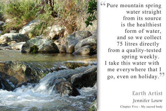 Pure mountain spring water