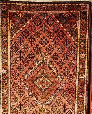 Meymeh,Persien ca 227 x 128 cm. Flor Wolle.