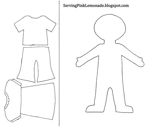 Template for girl and clothes. Also mailbox, tree for different seasons, etc.