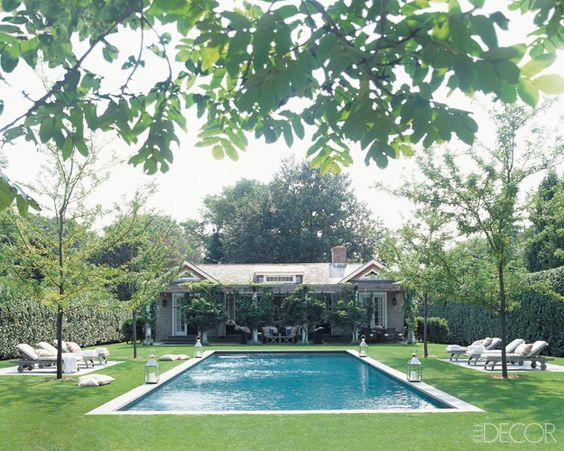 Rectangular pool pools and grasses on pinterest for Garden pool wedding
