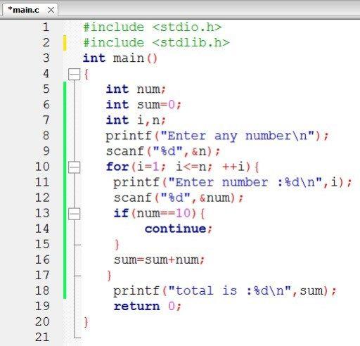 Continue Statement In C Programming Language Code For Java C Coding Languages Language Programming Languages