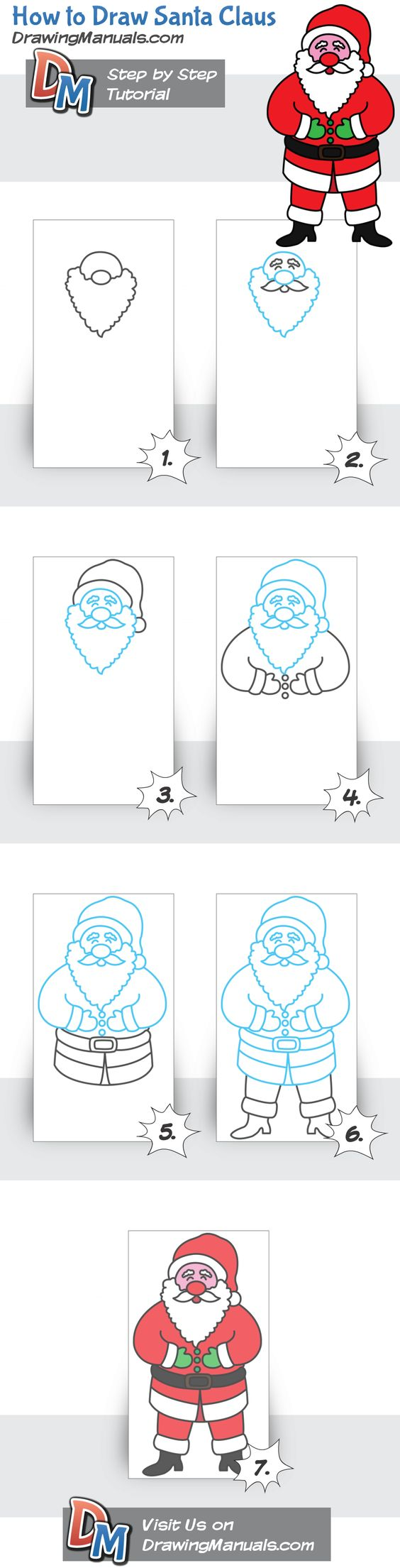how to draw a santa claus 52weeksofhowtodraw christmas diy