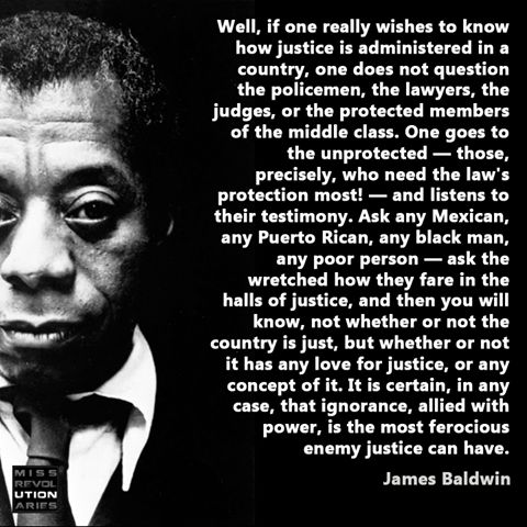 ~ James Baldwin. Ask the harmed clients of mental health.:
