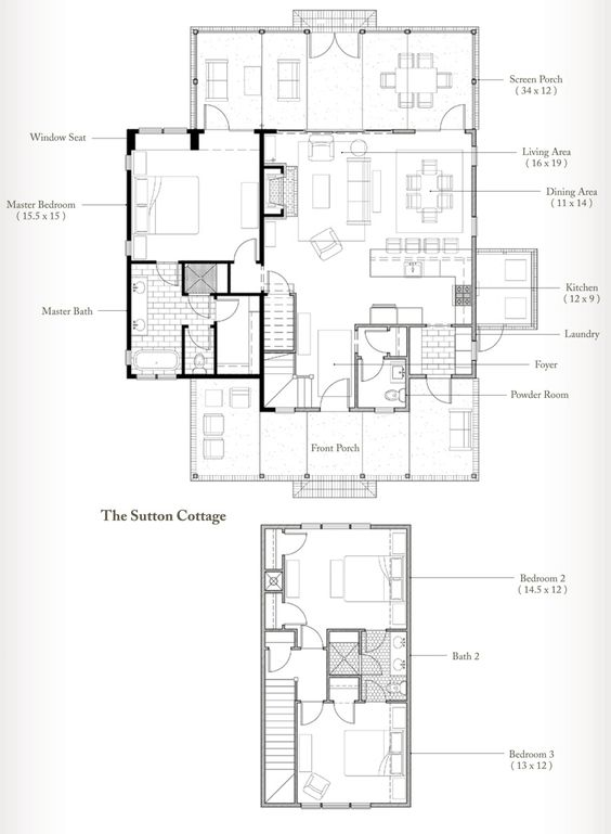 Outstanding Sutton Cottage The Plan For The Palmetto Bluff Cottage On Houzz Largest Home Design Picture Inspirations Pitcheantrous