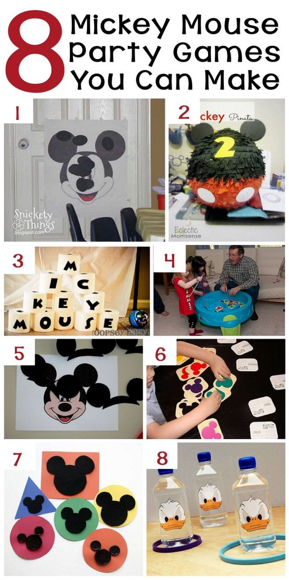 70+ Mickey Mouse DIY Birthday Party Ideas | About Family Crafts: