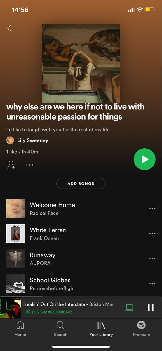 Why Else Are We Here If Not To Live With Unreasonable Passion For Things In 2021 Playlist Names Ideas Spotify Music Vibe Song