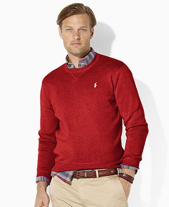 Polo Ralph Lauren Sweater, Combed Crew-Neck Sweater - Mens Sweaters - Macy\u0026#39;s