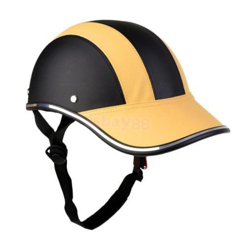 Baseball Cap Style Motorcycle Bike Helmets Safe Foam Padded Pu Hat Anti Uv Visor Baseball Caps Fashion Baseball Helmet Helmet