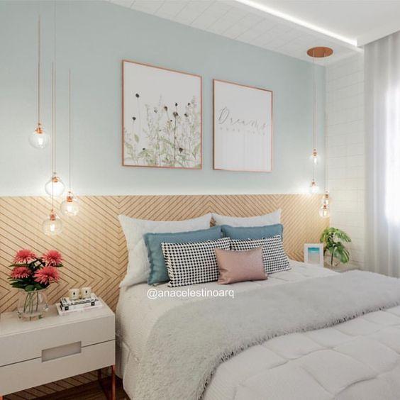 Kombinasi 2 Warna Cat Kamar Tidur Biru dan Pink 16