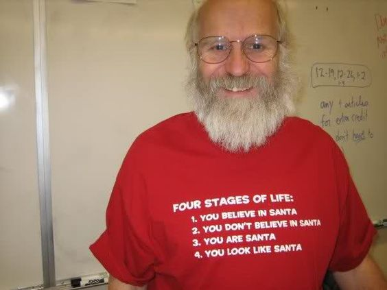 4-stages-of-life through Santa
