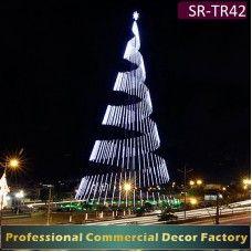 led weihnachtsbeleuchtung außen figuren-Spirale Weihnachtsbaum