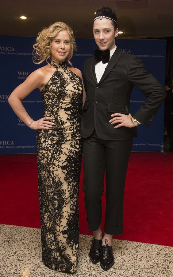 Pin for Later: Stars Have a Ball at the White House Correspondents' Dinner Tara Lipinski and Johnny Weir