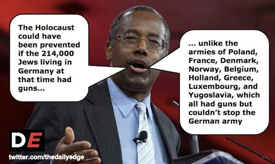 There were 214,000 Jews living in Germany in 1938. Ben Carson still says more guns could have stopped the Holocaust