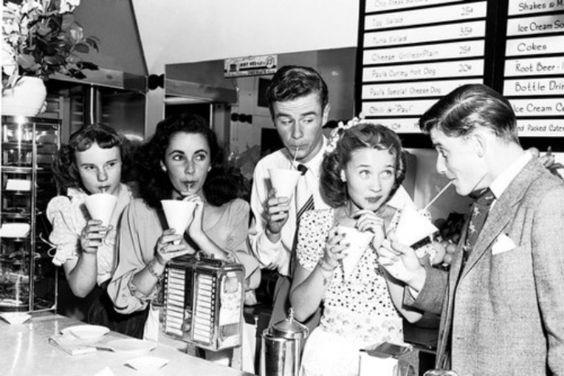 Peggy Ann Garner, Elizabeth Taylor, Marshall Thompson, Jane Powell and Roddy McDowell
