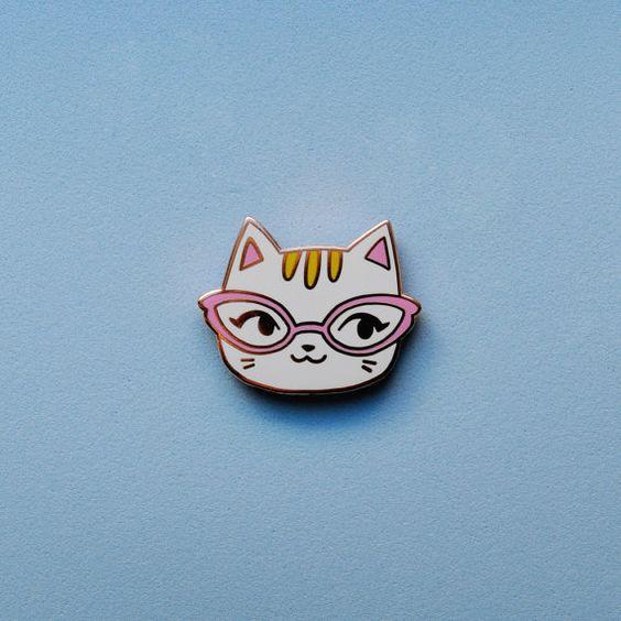 Enamel Pin  Cat by sockie on Etsy