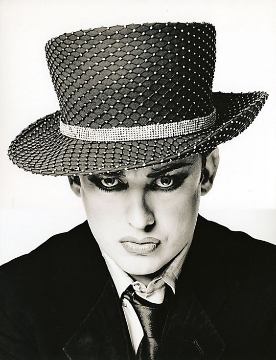 Boy George (born George Alan O'Dowd, 1961) - British singer-songwriter (New Romantic movement). Phoyo by Paul Rider