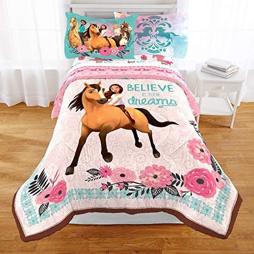 Spirit Dreamworks Riding Free Comforter And Sheets 4pc Bedding Set Twin Size Kids Bedding Twin Bed Sets Bed Comforters