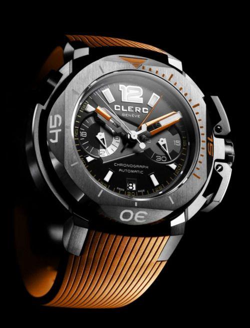 Clerc Hydroscaph Clockwork Orange will be presented at #Baselworld 2012