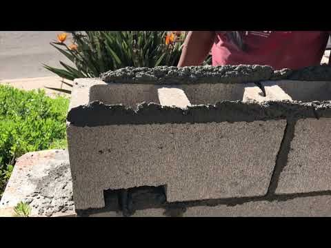 How To Build A Concrete Block Wall Part 2 Home Fixated In 2020 Concrete Block Walls Concrete Blocks Concrete Wall