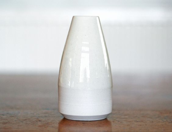 Pottery West Milk Bottle Vase