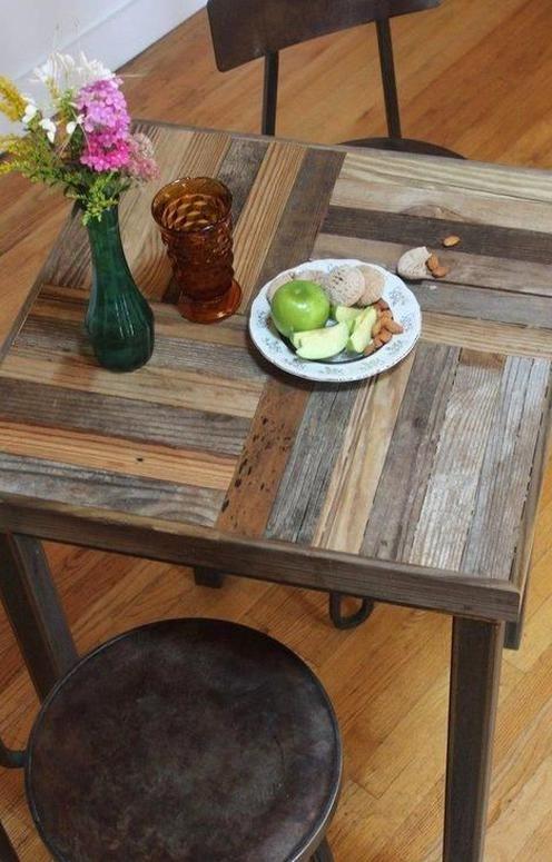 Reclaimed Wood Bistro Table In 2020 Diy Pallet Furniture