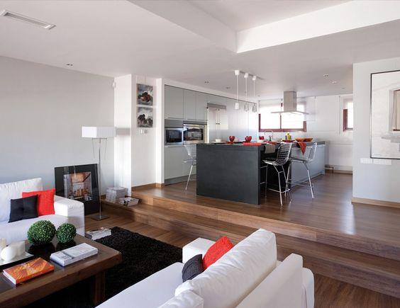 Ideas de #decoracion de #comedor, #cocina, estilo #moderno ...