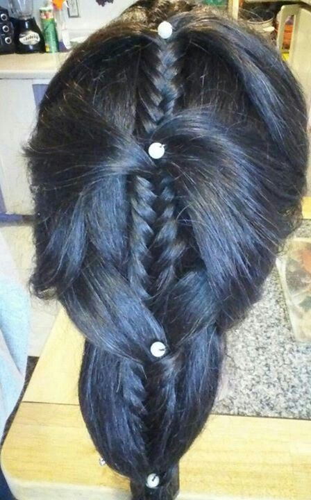 Elegant pearl braid