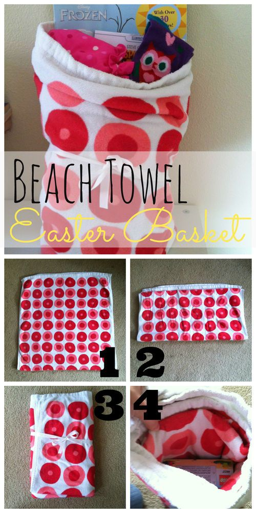 How to make a Beach Towel Easter Basket (and lots of other alternatives to a traditional basket!) #easter: