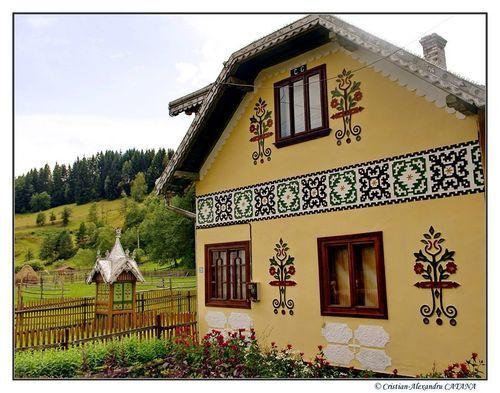 Travel - The painted houses of ciocanesti ...