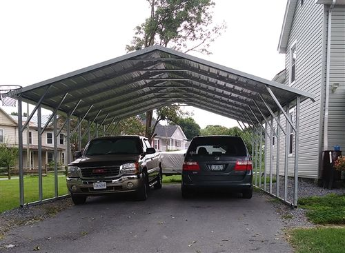 30x26 Boxed Eave Triple Wide Steel Carport Alan S Factory Outlet Steel Carports Metal Carports Carport Prices