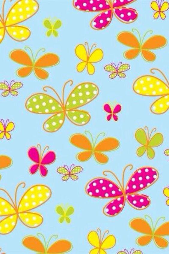 Wallpaper wallpaper pinterest mariposas y fondos de for Papel tapiz infantil