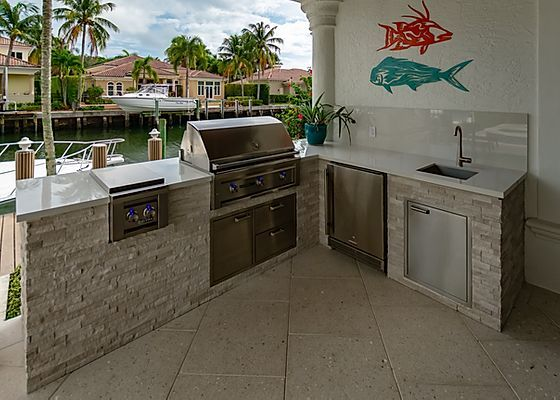 Outdoor Kitchens North Palm Harbour Ises Fischman Outdoor Kitchens In 2020 Beach Kitchens Outdoor Kitchen Outdoor Appliances