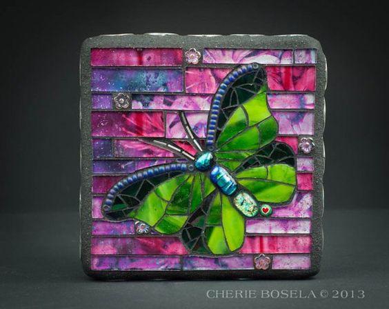 Mosaic Butterfly by Cherie Bosela