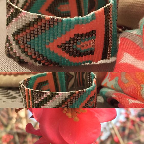 #jenfile des perles#miyuki#bracelet couleur printanière