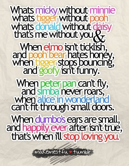 I Love You Quotes Disney : ... disney poem disney stuff disney magic disney freak cute disney quotes