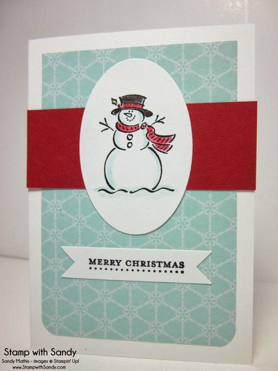 Handmade christmas cards handmade christmas and snowman for Handmade snowman christmas cards