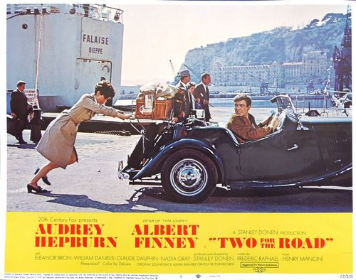 TWO FOR THE ROAD! Audrey Hepburn/Albert Finney in 1950 MG TD Convertible