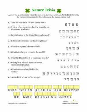 Printables The Nature Of Science Worksheet nature trivia worksheets and science worksheets
