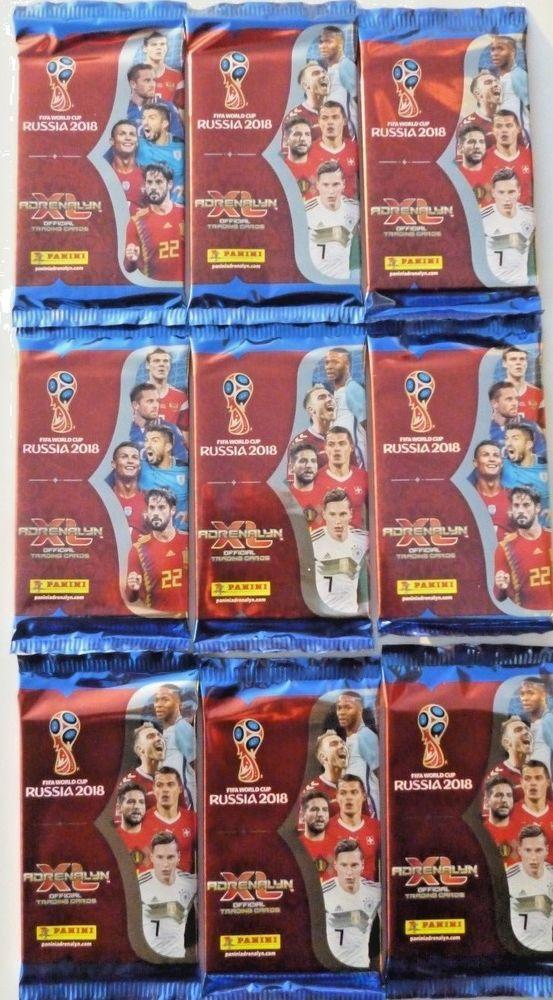9 X Panini Adrenalyn Xl Fifa World Cup Russia 2018 Trading Card Packs Ebay World Cup Russia 2018 Fifa World Cup Russia World Cup