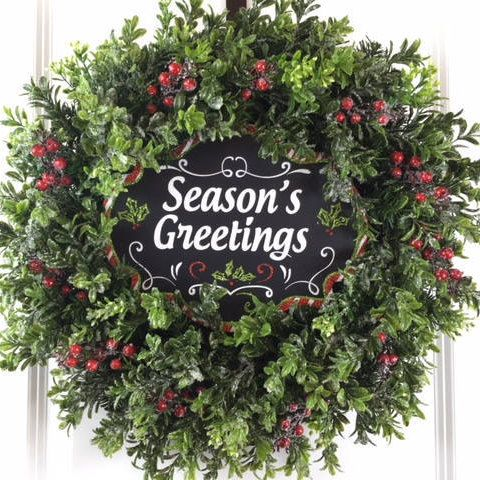 Holiday Wreath Christmas For Door Outdoor Decoration