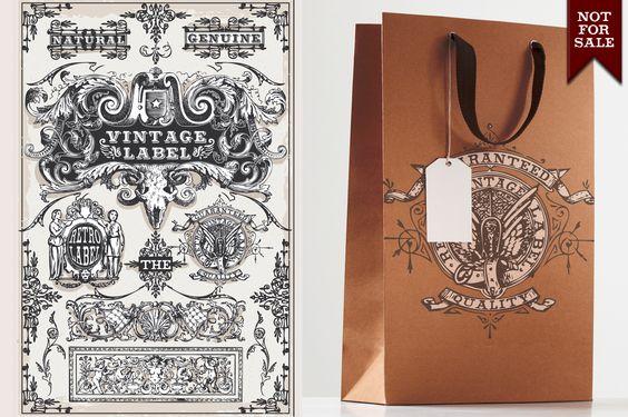 Vintage Labels by a Little Vintage Shop on Creative Market